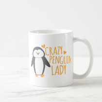 Crazy Penguin Lady Coffee Mug