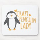 Crazy Penguin Lady Mouse Pad