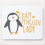 """Crazy Penguin Lady Mouse Pad<br><div class=""""desc"""">Crazy Penguin Lady</div>"""