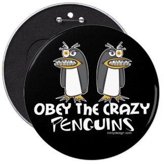 Crazy Penguins Button