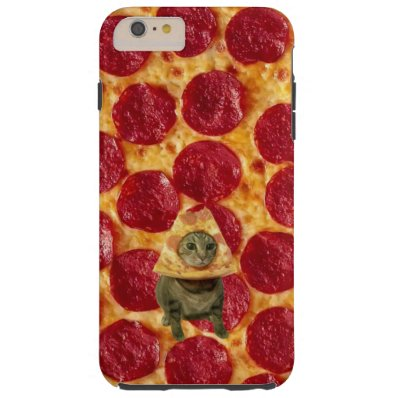 Crazy Pepperoni Pizza and Pizza Cat Tough iPhone 6 Plus Case