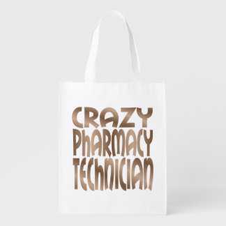 Crazy Pharmacy Technician in Silver Market Totes