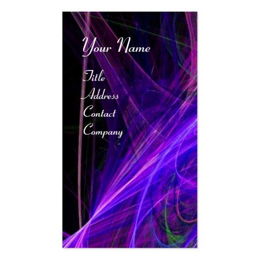 CRAZY PHOTON MONOGRAM gem blue purple Business Cards
