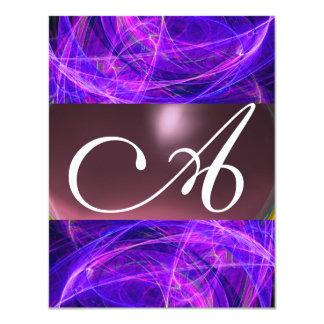 CRAZY PHOTON MONOGRAM purple black Card