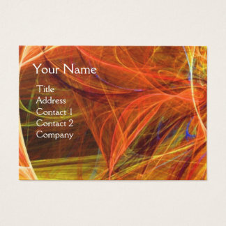 CRAZY PHOTON monogram Vibrant black red yellow Business Card