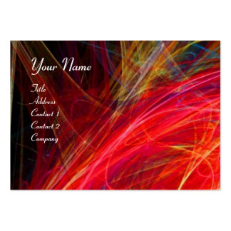 CRAZY PHOTON vibrant soft black red white Large Business Card