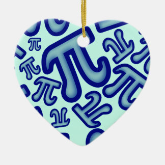 Crazy Pi Numbers - Blue Ceramic Ornament