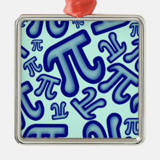 Crazy Pi Numbers - Blue Metal Ornament