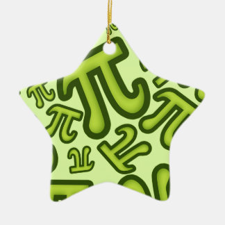 Crazy Pi Numbers - Green Ceramic Ornament