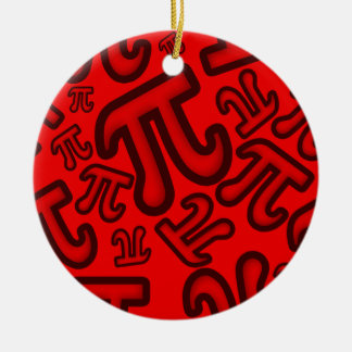 Crazy Pi Numbers - Network Ceramic Ornament