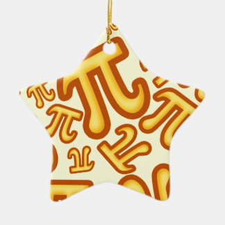 CRAZY PI NUMBERS - NUMBER PI - MATHS - YELLOW CERAMIC ORNAMENT