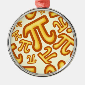 CRAZY PI NUMBERS - NUMBER PI - MATHS - YELLOW METAL ORNAMENT