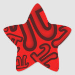 Crazy Pi Numbers - Red Pegatina En Forma De Estrella