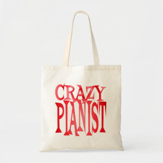 Crazy Pianist in Red Tote Bag