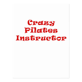 Crazy Pilates Instructor Postcard