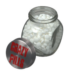 Crazy Pills Glass Candy Jars at Zazzle