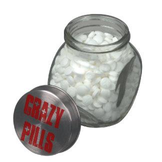 Crazy Pills Glass Candy Jars