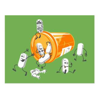 Crazy pills post cards