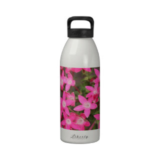 Crazy Pink Flowers Drinking Bottle