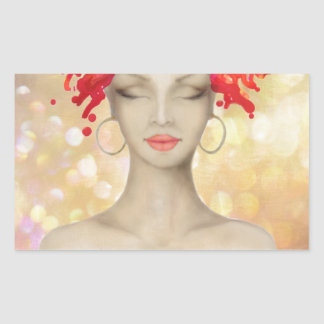 Crazy Pink hair night out Rectangular Stickers