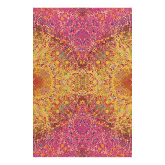 Crazy Pink Yellow Abstract Cork Paper Print