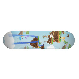 Crazy Planet - Floating Islands Skateboard Deck