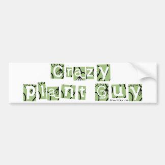 Crazy Plant Guy Bumper Sticker