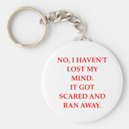 CRAZY.png Key Chain