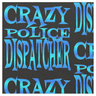 Crazy Police Dispatcher in Blue Fabric