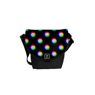 Crazy Polka Dots Custom Black Background Courier Bag
