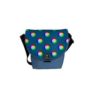 Crazy Polka Dots Custom Ocean Blue Background Messenger Bag
