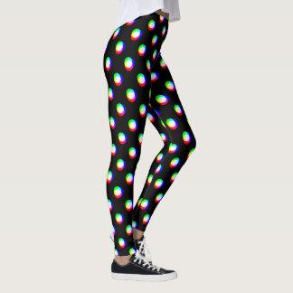 Crazy Polka Dots larger Custom Background Black Leggings