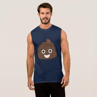 Crazy Poop Emoji Sleeveless Shirt