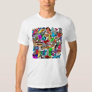 crazy print tee shirt