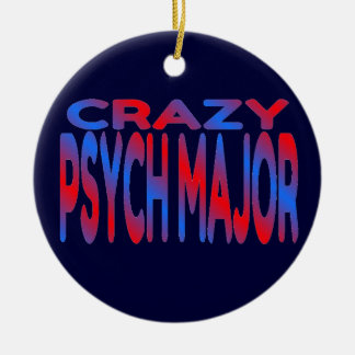 Crazy Psych Major Double-Sided Ceramic Round Christmas Ornament