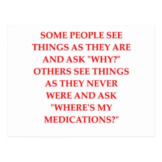 crazy psychiatrist joke postcard