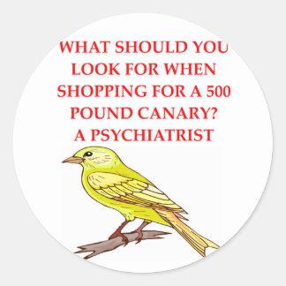 crazy psychiatrist joke sticker
