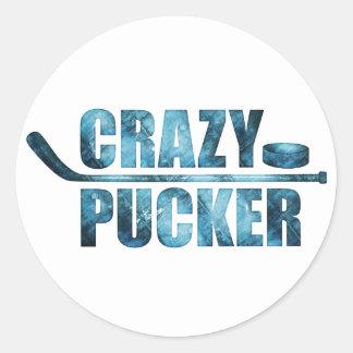 Crazy Pucker (Hockey) Classic Round Sticker