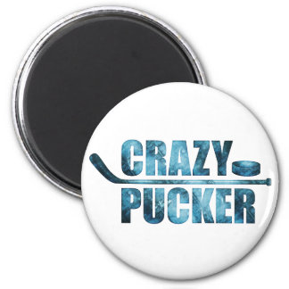 Crazy Pucker (Hockey) Magnet
