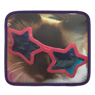 Crazy Puffo the cat iPad Sleeve