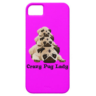 Crazy Pug Lady iPhone 5 Cover