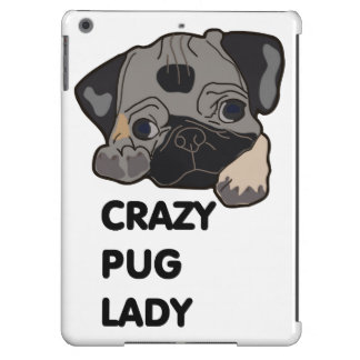 Crazy Pug Lady Cover For iPad Air