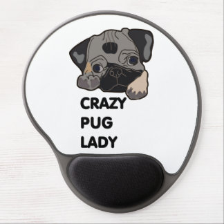 Crazy Pug Lady Gel Mouse Pad