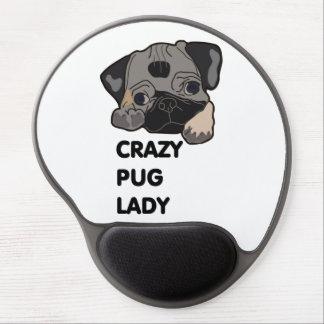 Crazy Pug Lady Gel Mouse Pad