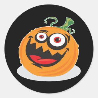 Crazy-Pumpkin Classic Round Sticker
