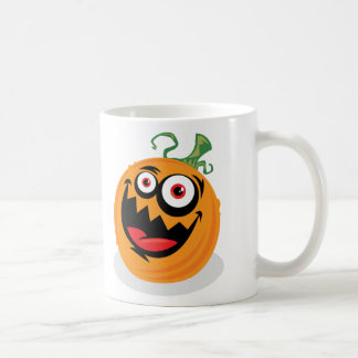 Crazy Pumpkin Classic White Coffee Mug