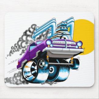 Crazy Purple Hot Rod Mousepad