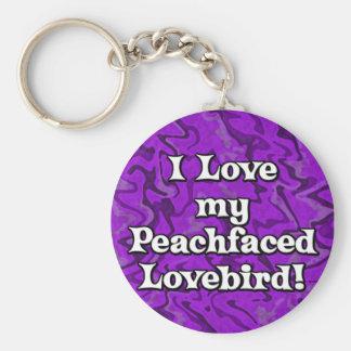 Crazy Purple Peachfaced Lovebird Keychain