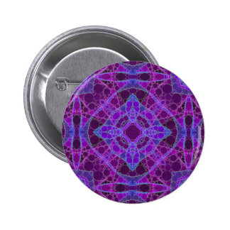 Crazy Purple Pink Abstract Button