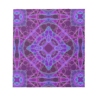 Crazy Purple Pink Abstract Notepad